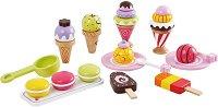 Сладоледи - Дървен комплект за игра - творчески комплект