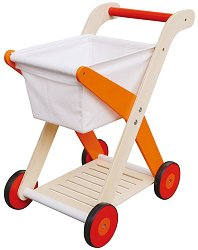 Пазарска количка - Дървена детска играчка -