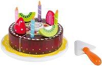 Шоколадова торта - Дървен комплект за игра - играчка