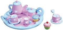 Сервиз за чай с кексчета - Дървен комплект за игра -