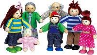 Семейство - Комплект от 7 броя дървени кукли -