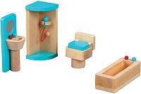 Баня - Дървено обзавеждане за куклена къща -