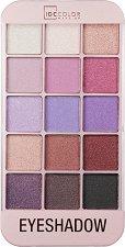 IDC Color iMakeUp Rose Eyeshadow - Палитра с 15 цвята сенки за очи - продукт