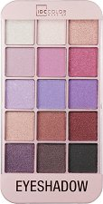 IDC Color iMakeUp Rose Eyeshadow - Палитра с 15 цвята сенки за очи -