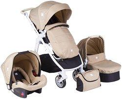 Бебешка количка 3 в 1 - Ugo - С 4 колела -