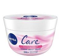 Nivea Care Soothing Cream - Успокояващ крем за лице и тяло за чувствителна и суха кожа - гел