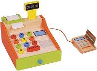Касов апарат с ПОС терминал - Дървен комплект за игра - играчка