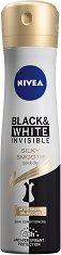 "Nivea Invisible For Black & White Silky Smooth Anti-Perspirant - Дамски дезодорант против изпотяване от серията ""Invisible For Black & White"" - шампоан"