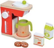 Кафемашина - Дървен комплект за игра -