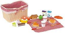 Кошница за пикник с аксесоари - Дървен комплект за игра -