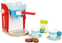 Кафемашина с аксесоари - Дървен комплект за игра -