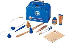 Докторско куфарче - Дървен комплект за игра - топка