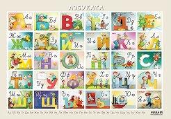 Азбуката: Учебно табло по български език за 1. клас -