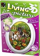 """Създай сам 3D картина с формат А5 - Кучета пазачи - Творчески комплект от серията """"Living 3D Picture"""" - творчески комплект"""