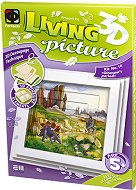 """Създай сам 3D картина с формат А5 - Епохата на динозаврите - Творчески комплект от серията """"Living 3D Picture"""" - творчески комплект"""