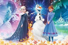 """Елза, Анна и Олаф - Пъзел с едри елементи от колекцията """"Замръзналото кралство"""" - душ гел"""