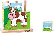Низанка - Животни от фермата - Дървена образователна играчка - играчка