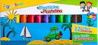 Пластилин - Gimboo - Комплект от 12 цвята