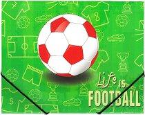 """Папка с ластик - Формат А4 от серията """"Life is Football"""""""