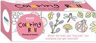 Самозалепваща се ролка за оцветяване - Цветя и насекоми - Комплект със секторен молив -