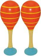 Дървени маракаси - Линии - Комплект от 2 броя -