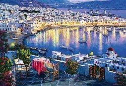 Залез в Миконос, Гърция - пъзел