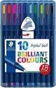 Цветни химикалки - Triplus 437 - Комплект от 10 цвята