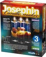 """Създай сам 3 декоративни свещи на морска тема - Комплект 2 - Творчески комплект от серията """"Candlemaker"""" -"""