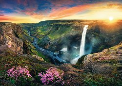 Водопадът Хайфос, Исландия - пъзел