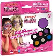 """Бои за лице - Комплект от 6 цвята и четка от серията """"Fiesta"""""""