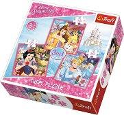"""Снежанка и седемте джуджета, Красавицата и звяра и Пепеляшка - 3 пъзела от колекцията """"Принцесите на Дисни"""" - пъзел"""