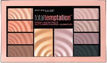 Maybelline Total Temptation Shadow & Highlight Palette - Палитра сенки за очи и хайлайтъри - четка