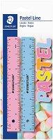 Линия за чертане - Pastel Line - Комплект от 2 броя с дължина 15 cm