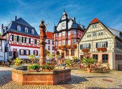 Пазар в Хеппенхайм, Германия - пъзел