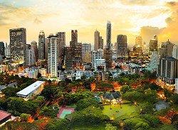 Залез в Банкок, Тайланд -