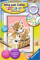 Всеки може да рисува: Котенца - Творчески комплект - пъзел