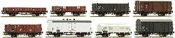 Товарни вагони използвани от Холандски държавни железници - ЖП модели - комплект от 8 броя -