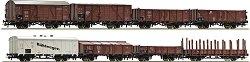 Товарни вагони използвани от Немския Райхсбан - ЖП модели - комплект от 8 броя -