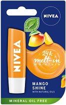 Nivea Mango Shine Lip Balm - Балсам за устни с аромат на манго - дамски превръзки