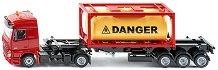 """Камион с цистерна - Mercedes-Benz - Метална играчка от серията """"Super: Transport"""" -"""