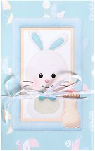 Поздравителна картичка - Зайче момченце -