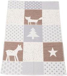 """Бебешко одеяло - Горски животни - Размери 75 x 100 cm от серия """"Lena"""" -"""
