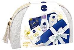 Подаръчен комплект с несесер - Nivea Expert Care - Козметика за лице и тяло -