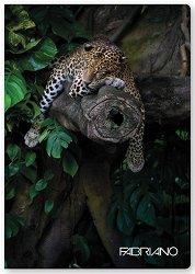 Ученическа тетрадка - Диви животни : Формат А4 с широки редове - 40 листа -