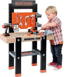 """Детска работилница с инструменти - Комплект за игра от серията """"Black and Decker"""" -"""