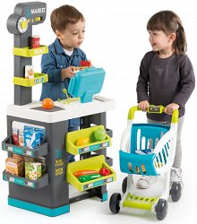 Супермаркет с пазарска количка - Детски игрален комплект с аксесоари - играчка