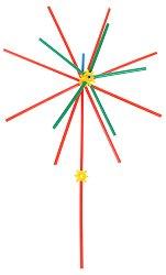 Бамбучиколор - Детски конструктор със сламки - играчка