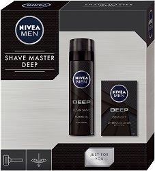 """Подаръчен комплект за мъже - Nivea Men Deep Comfort - Гел за бръснене и лосион за след бръснене от серията """"Deep"""" -"""