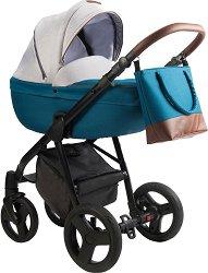 Бебешка количка 2 в 1 - Bera - С 4 колела -