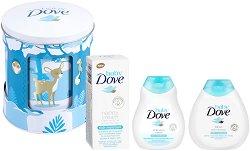 Бебешки подаръчен комплект - Baby Dove Lullaby Box - Шампоан, лосион за тяло и крем против подсичане - продукт